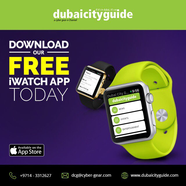 Download Dubai City Guide new iOS App that supports the Apple Watch https://t.co/0YWCWvx4iQ #AppleWatch #MobileApp https://t.co/IqTeeV3eXF