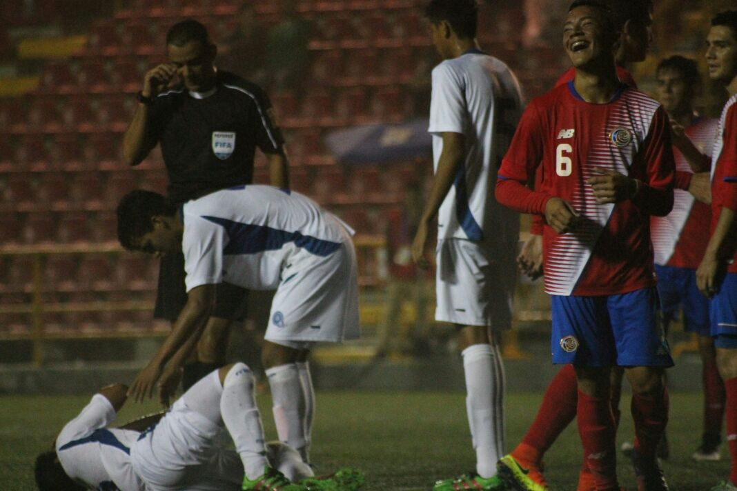 Eliminatorias de centroamerica rumbo al mundial sub17 de india 2017. El Salvador 0 Costa Rica 3. Cx_z-yrXcAANHBb