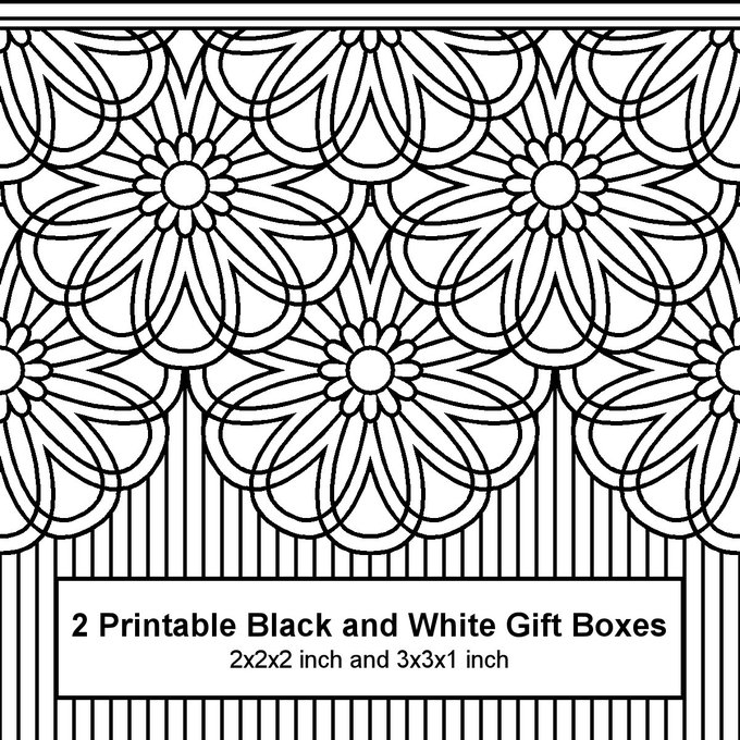 2 new boxes to print & colorcoloring gifts DIY papercraft