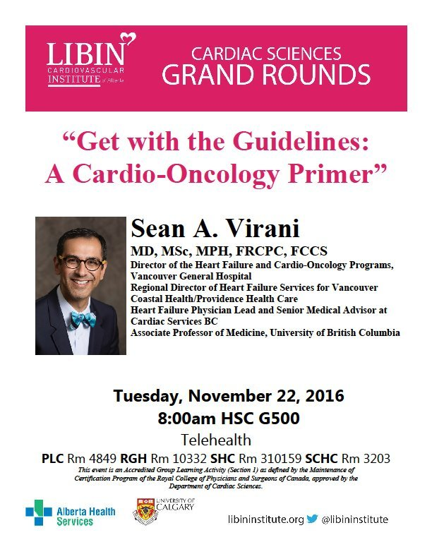 Libin Institute On Twitter Cardio Oncology Primer Ubcs Sean