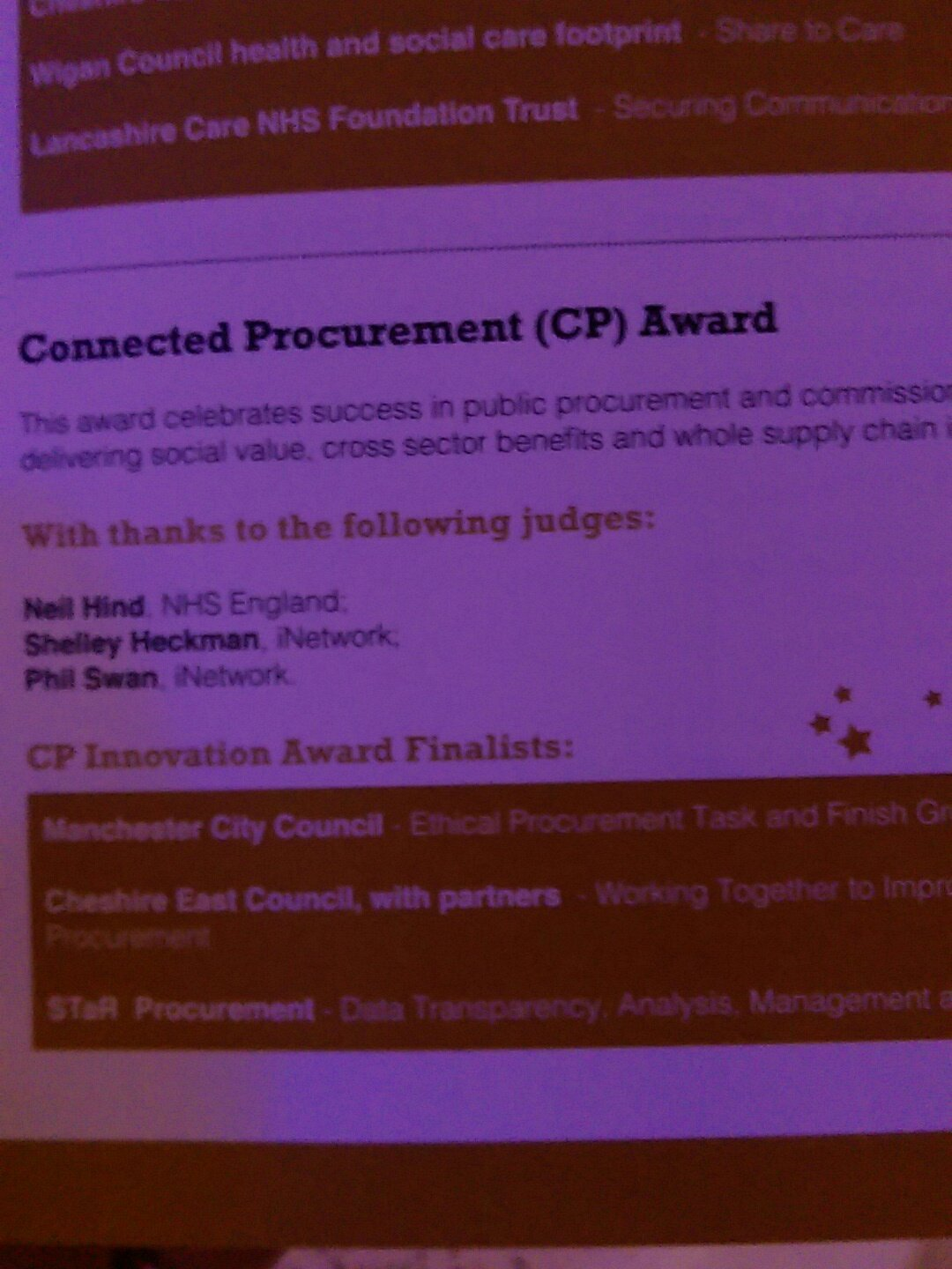 "STAR are very honoured to be finalists in a very strong ""connected procurement"" category #inetworkawards @EYnews @theinetwork https://t.co/6EOEvnRPdv"