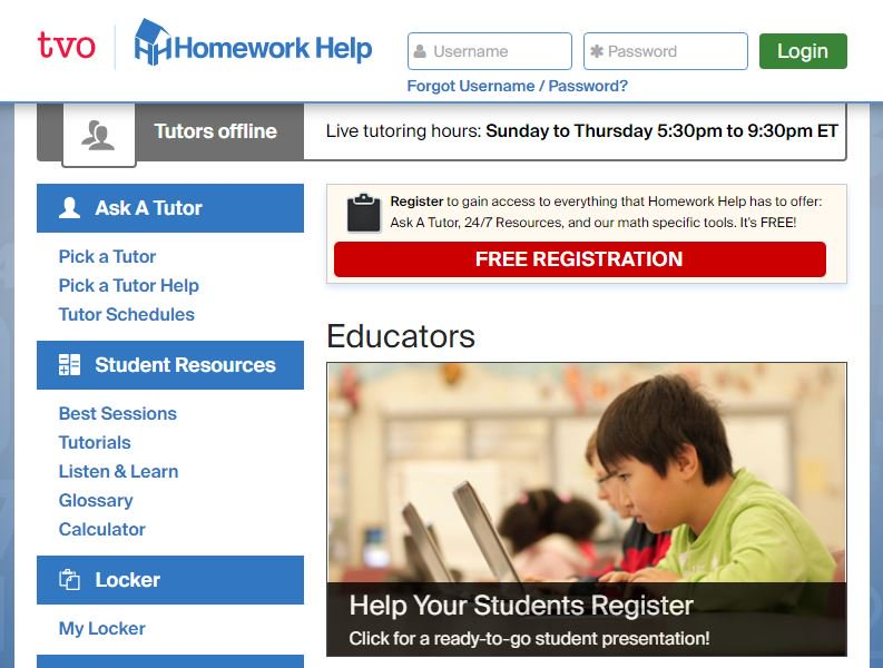 The number for homework help