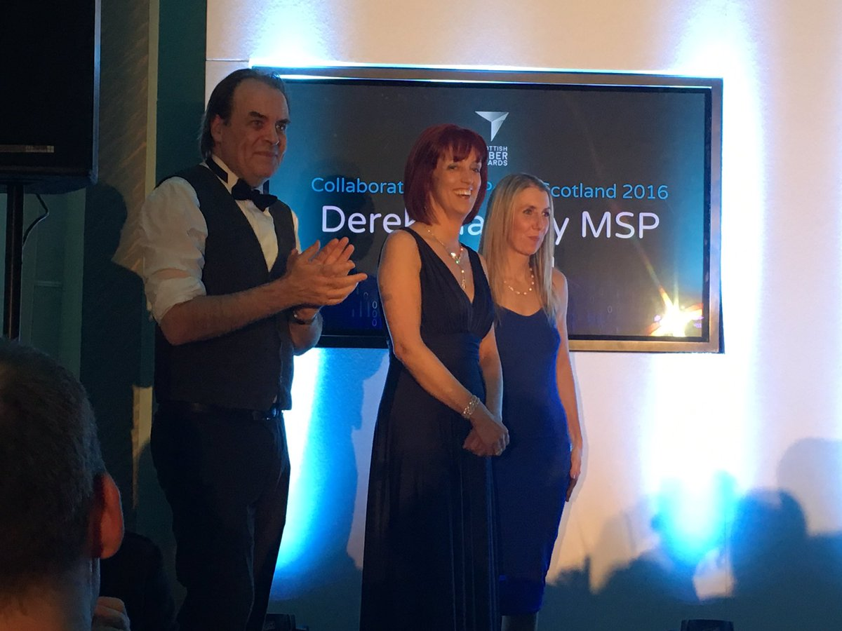 They didn't win but already winners having been shortlisted @CatrionaL123 @mcdonald_lesley at #ScotCyberAwards16 https://t.co/CzsdQyfhBf