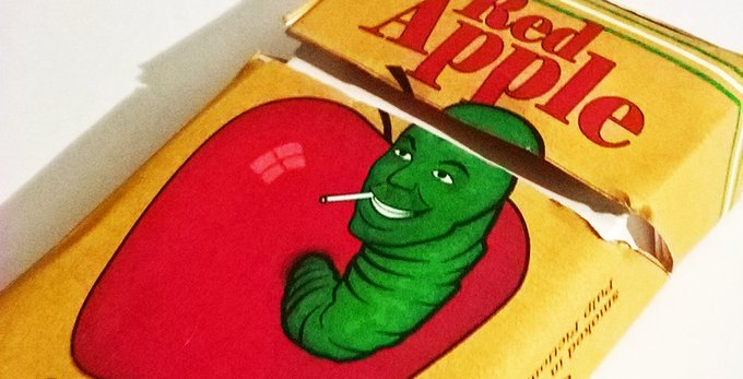Make your own Red Apple cigarettes pack DIY