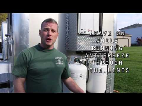 Winterize Your Portable Restroom Trailer with Hot Water Tank Tutorial Winterize Tutorial