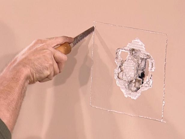 Beautify your home by repairing a damaged wall. DIY