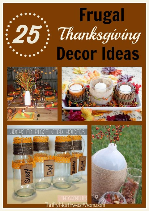 Homemade Thanksgiving Table Decorations & More! DIY