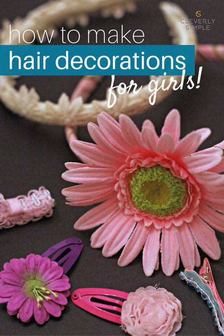 Gift Idea! DIY Hair Decorations for Girls: Christmas