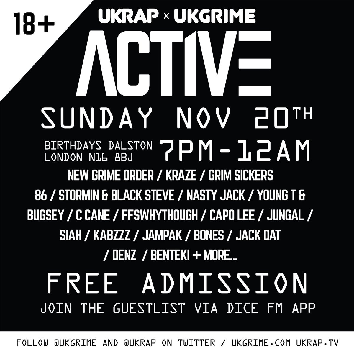 uk grime on twitter sign up via the dice fm app for free guestlist
