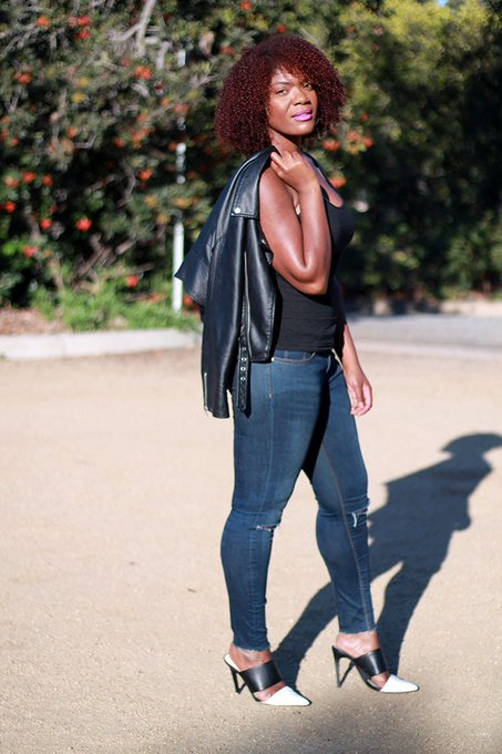 Fall Outfit Inspiration: Leather Jacket & Skinny Jeans ootd