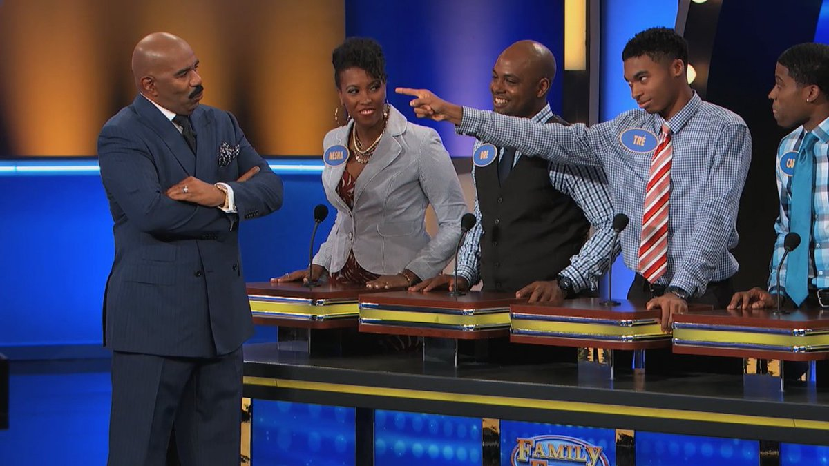 Tre lost cellphone privileges... for TWO YEARS! Find out why... #FamilyFeud #SteveHarvey #HumpDayHappiness https://t.co/NF57BeSbjD