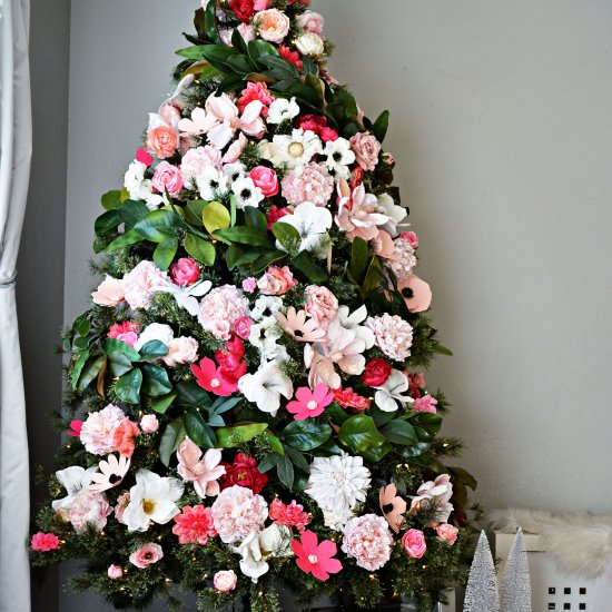 DIY DIY Floral Christmas Tree