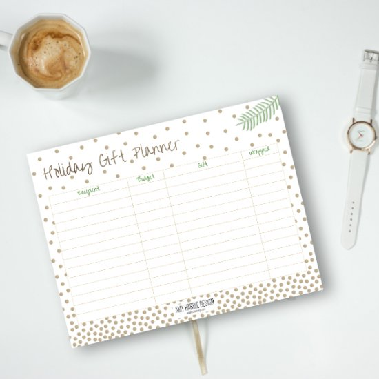 DIY Holiday Gift Planner Printable