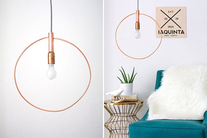 Modern light fixtures you can DIY this weekend DIY