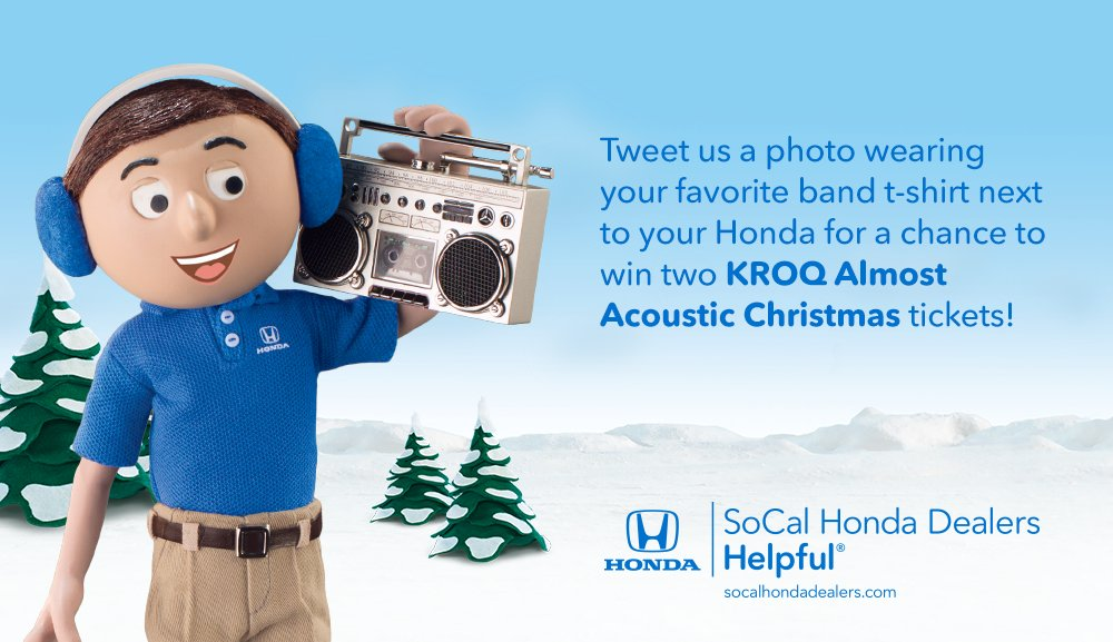 Awesome ... Https://www.facebook.com/notes/socal Honda Dealers/helpful Honda Hashtag Sweepstakes Kroq Almost Acoustic Christmas 121016 121116/10154051907807444  U2026 ...