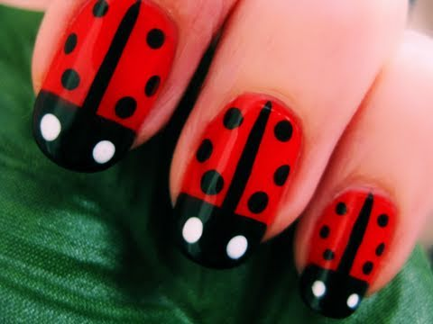 Cute & Easy: Lady Bug Nail Art CutePolish Beauty Nails -