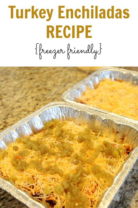 Turkey Enchiladas Recipe {Freezer Friendly}