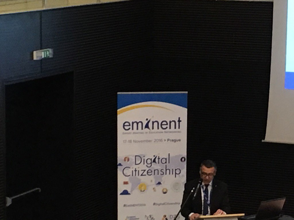 Welcome by Jaroslav Fidrmuc, Deputy Minister of Education in the Czech Republic #Eminent2016 https://t.co/B6Oo9JkXV9