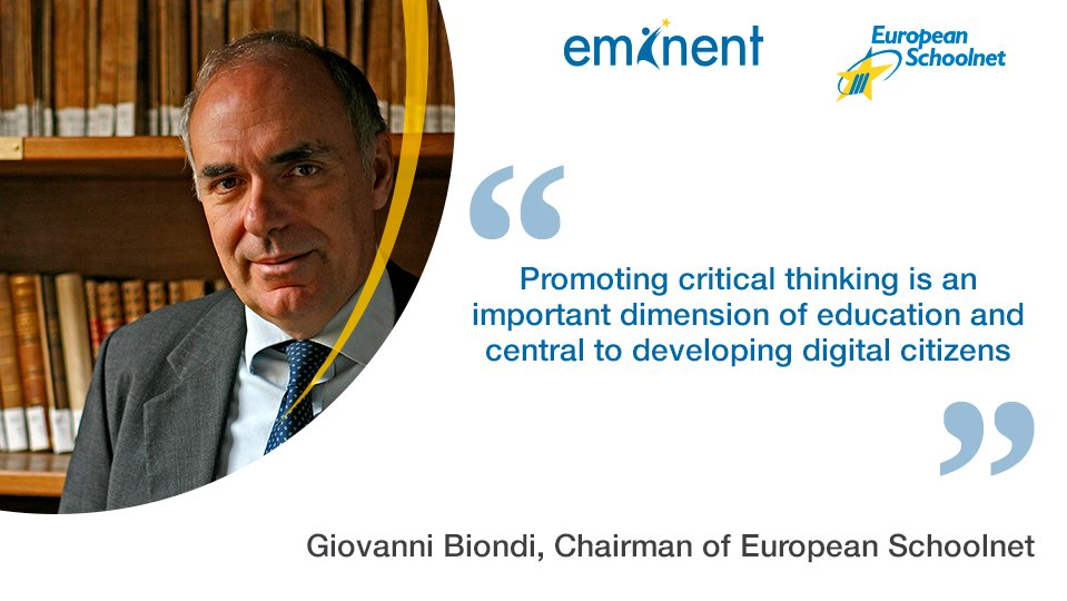 Giovanni Biondi, Director of @IndireSocial & Chairman of @eu_schoolnet opening #Eminent2016 on #DigitalCitizenship https://t.co/ZrVR71EAla