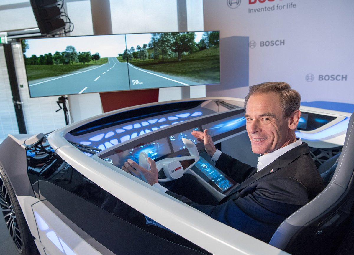 """Bosch CEO Denner: """"The #car as we know it will soon be history"""" https://t.co/SkMiQoPREA #ConnectedMobility"""