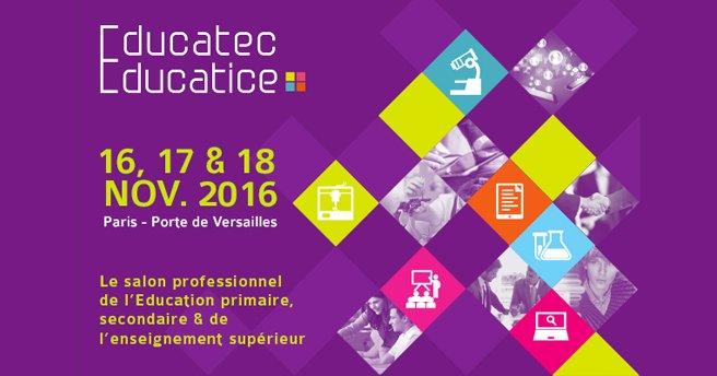 C'est parti pour #EducatecTice, jour 2 ! Parés pour une nouvelle journée d'#innovations, #conférences et autres #découvertes ? https://t.co/px58LDWxQZ