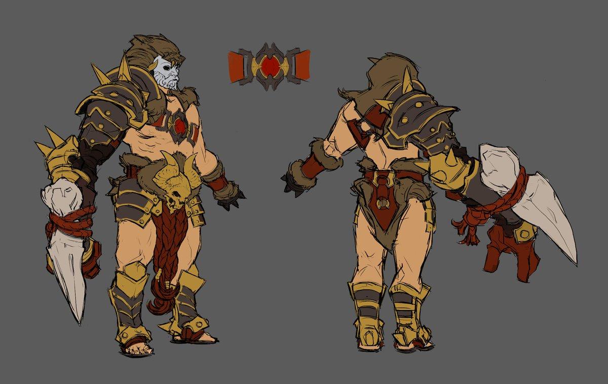 Vainglory On Twitter Concept Art Gladiator Ardan Leaps