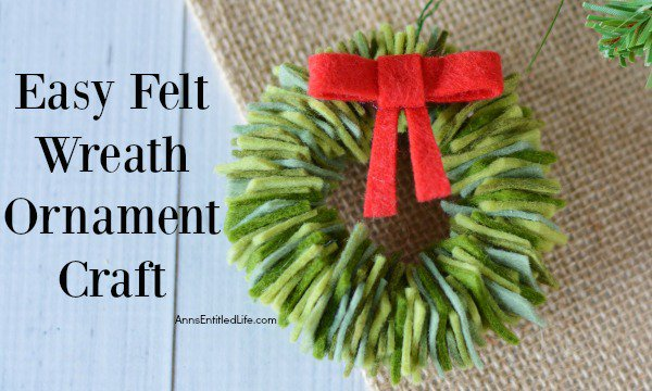 Felt Wreath Ornament Craft decor crafts christmas