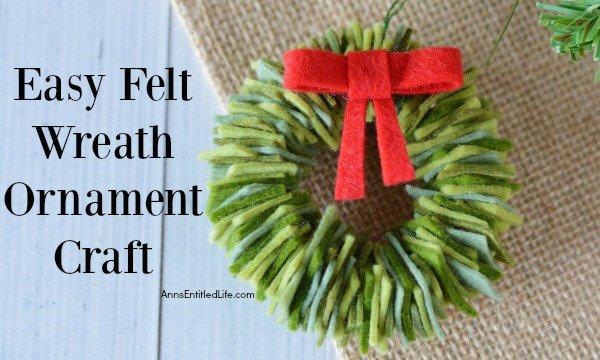 Felt Wreath Ornament Craft decor crafts christmas