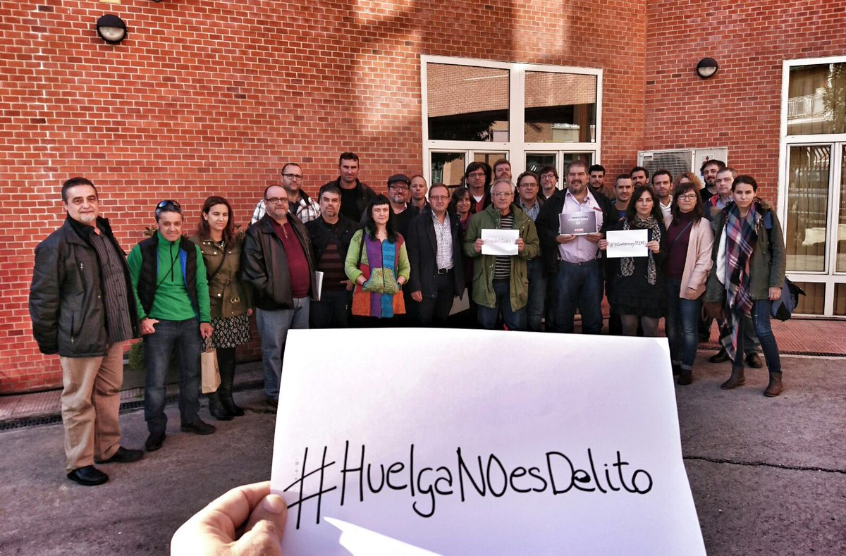 En apoyo a Pedro Galeano imputado por ejercer derecho de huelga. No a la represión sindical #HuelgaNOEsDelito