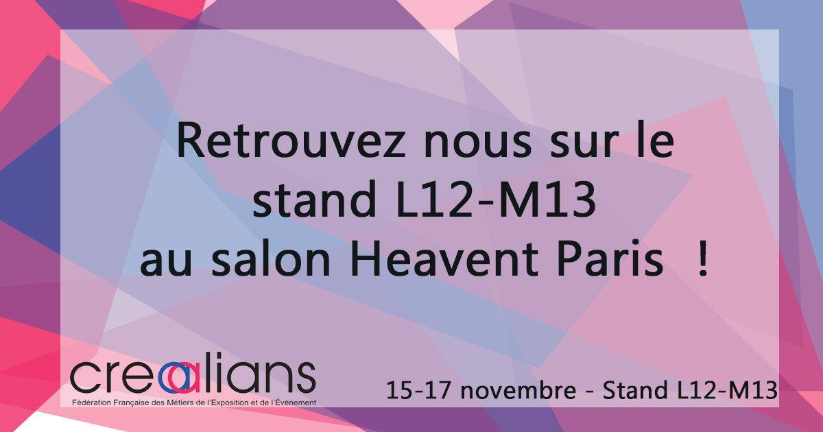 Si vous n'êtes toujours pas venu nous rencontrer au #salon @heaventparis , il est encore temps ! #eventprofs https://t.co/1Q0jZPtbUn