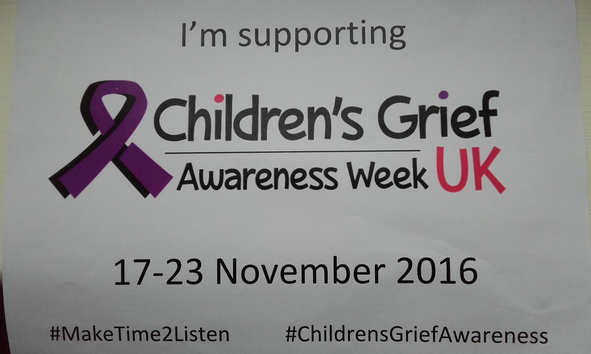 Glad to support #ChildrensGriefAwareness  week @CBNtweets. Follow #MakeTime2Listen for our event  @ODIdev 22 Nov https://t.co/vFCcLySzdM