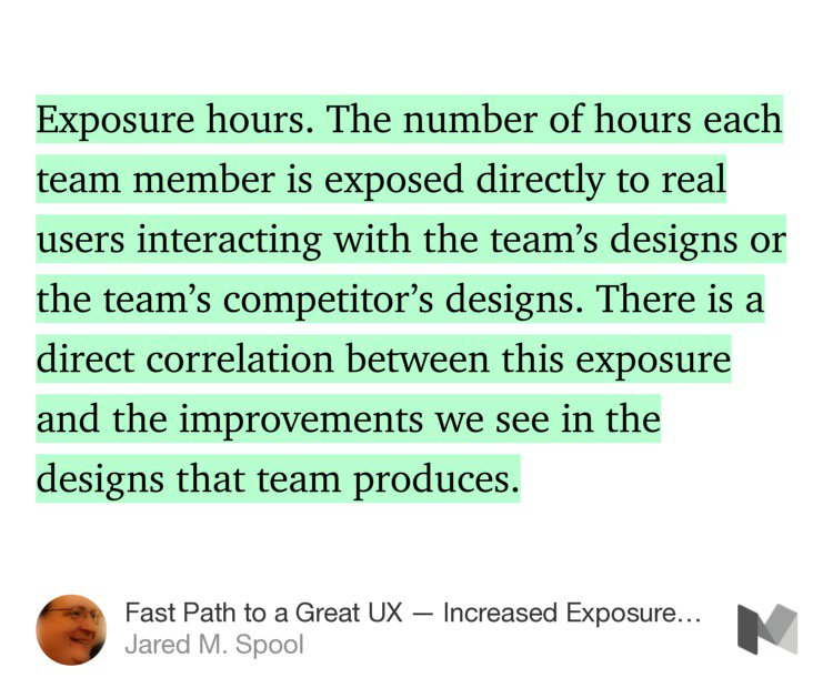 The key is getting *everyone* on your team in front of users. Not just designers.  https://t.co/W0NL6OA02L https://t.co/y8yRlqrXgB