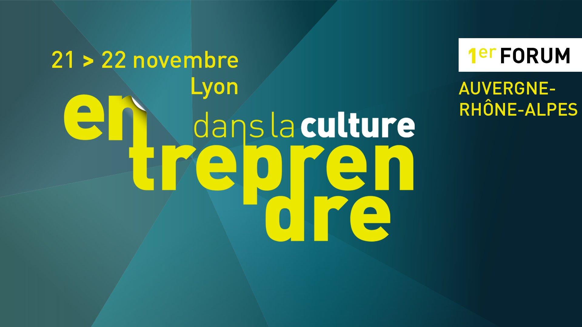 📅 Plus que jours avant le forum #EntreprendreDansLaCulture à #Lyon ! Pensez à vous inscrire : https://t.co/jykPhGcE1f cc @la_nacre @arald_fr https://t.co/gqAuPKoLog