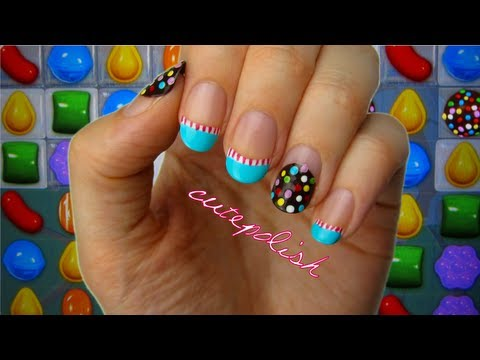 Candy Crush Nail Art CutePolish Beauty Nails -