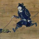 武士がネコの散歩w戦国時代に猫耳兜とか日本人マジ未来に生きてるだろ!
