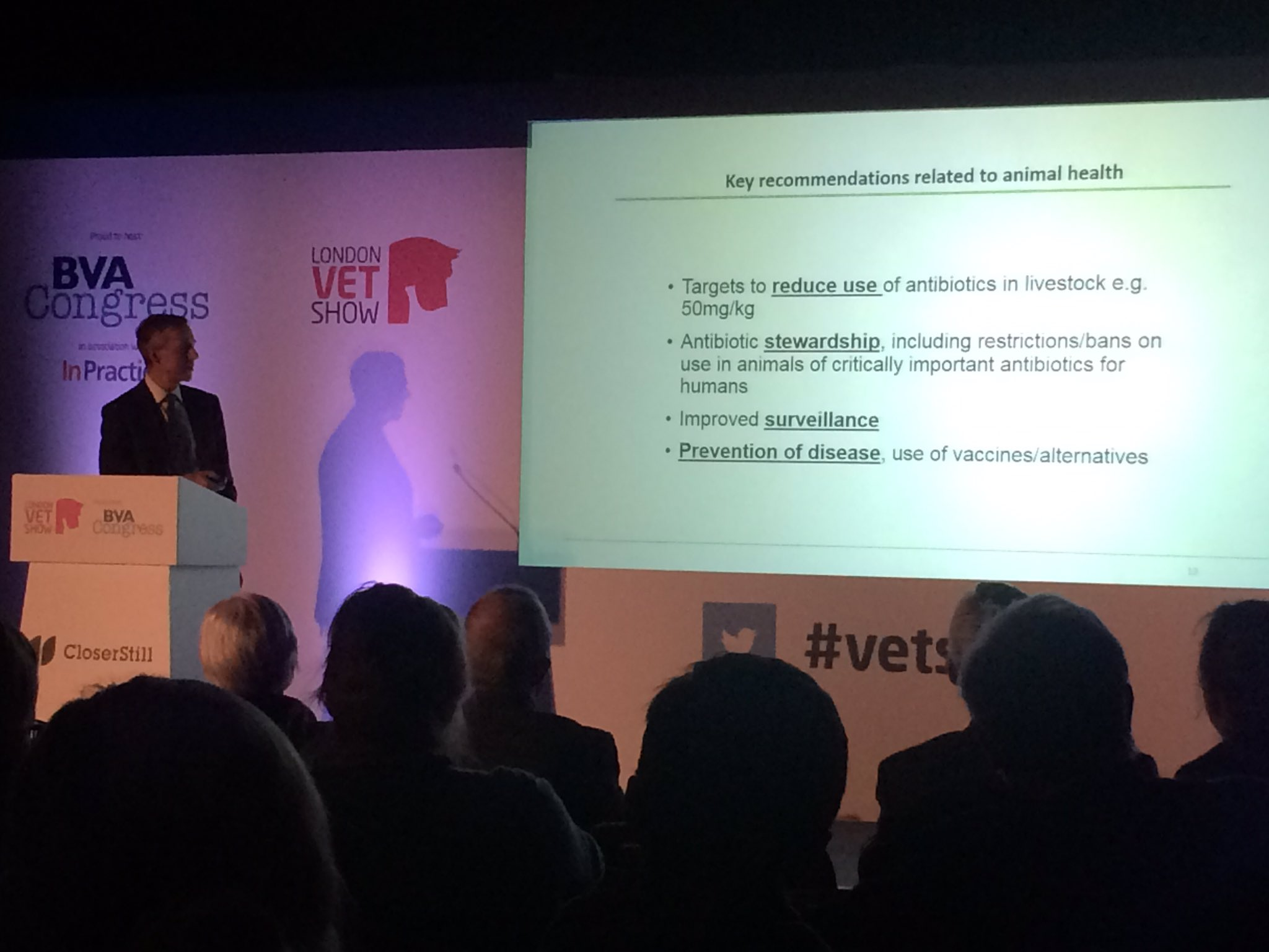 Ahead of #EAAD2016 @ChiefVetUK @DefraGovUK speaks on the O'Neill report & progress being made on #AMR at BVA Congress #vetshow https://t.co/vyZi0Ywbis