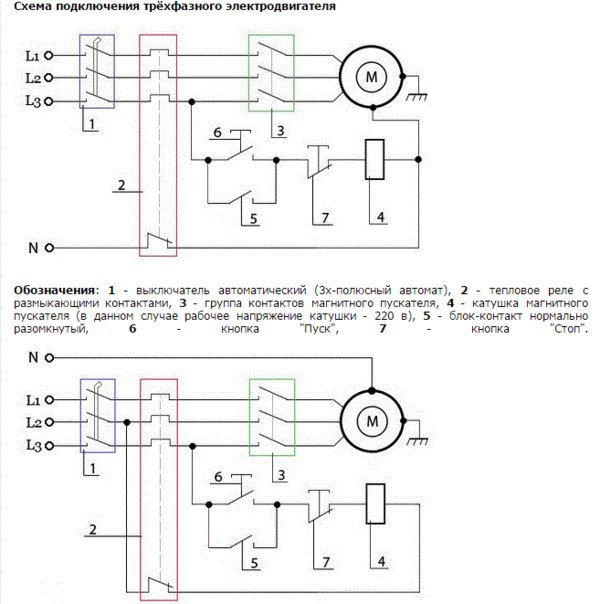 схема подключения пускателя бесконтактного реверсивного пбр 2м