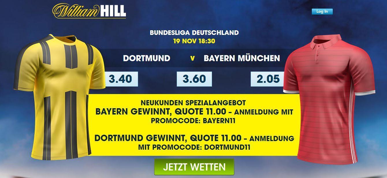 William Hill: Deutschland gewinnt x 10.00