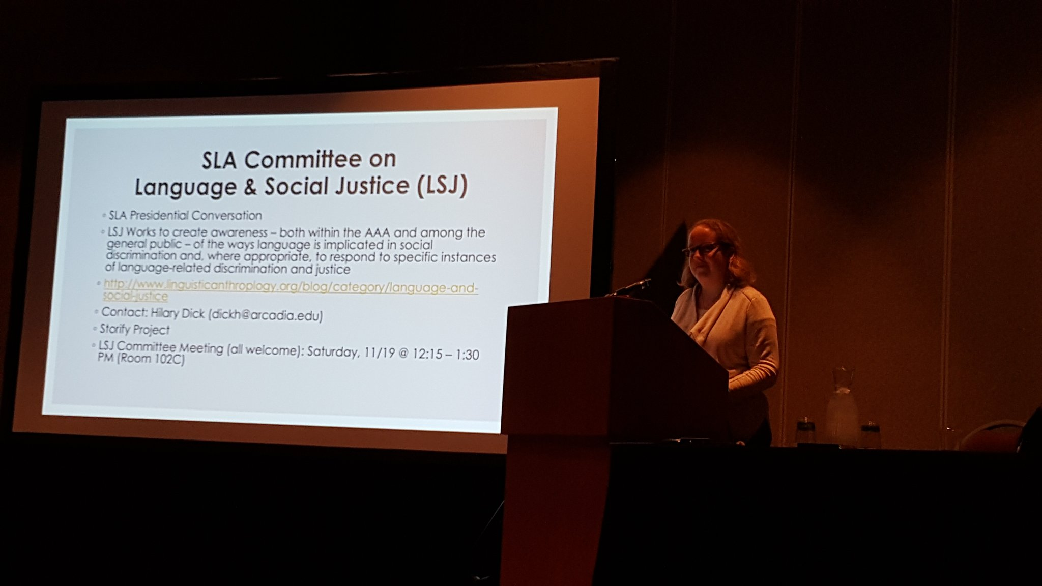 Language and social justice conversation at the AAA. #LSJ2016 #amanth2016 https://t.co/pnD3S7PvOW