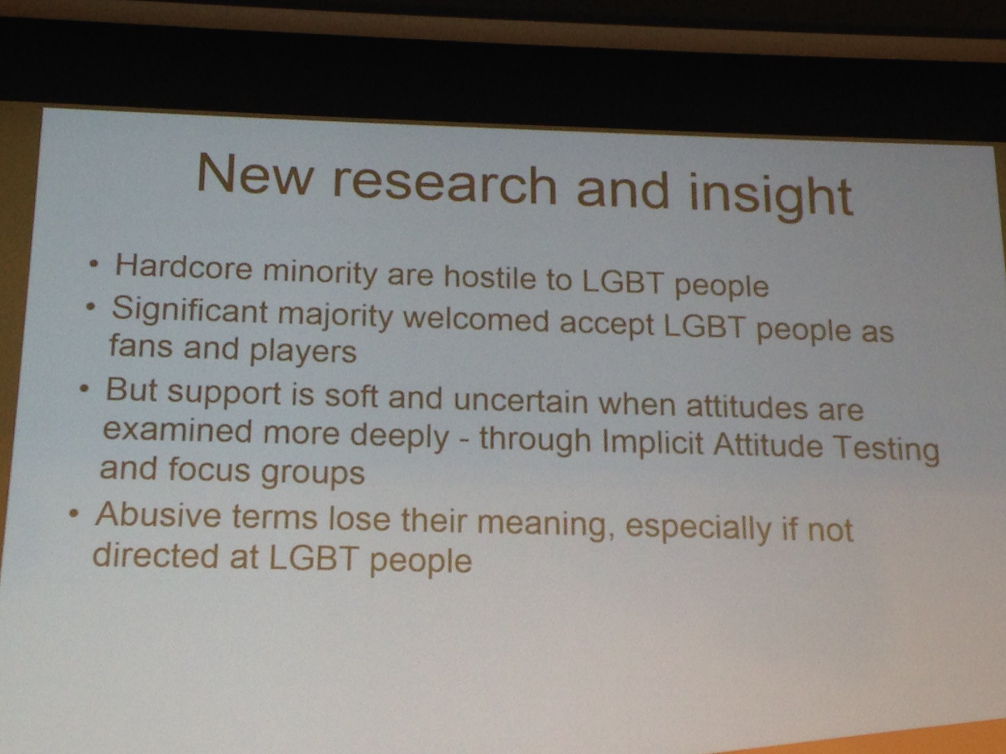 Research & evidence key to @stonewalluk campaign to change attitudes in sport #CCfilterbubble https://t.co/YXmbQSk5xj