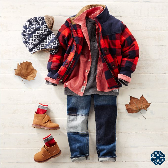 Hes outfitted for the adventure in this layered ootd. Shop now oshkoshkids