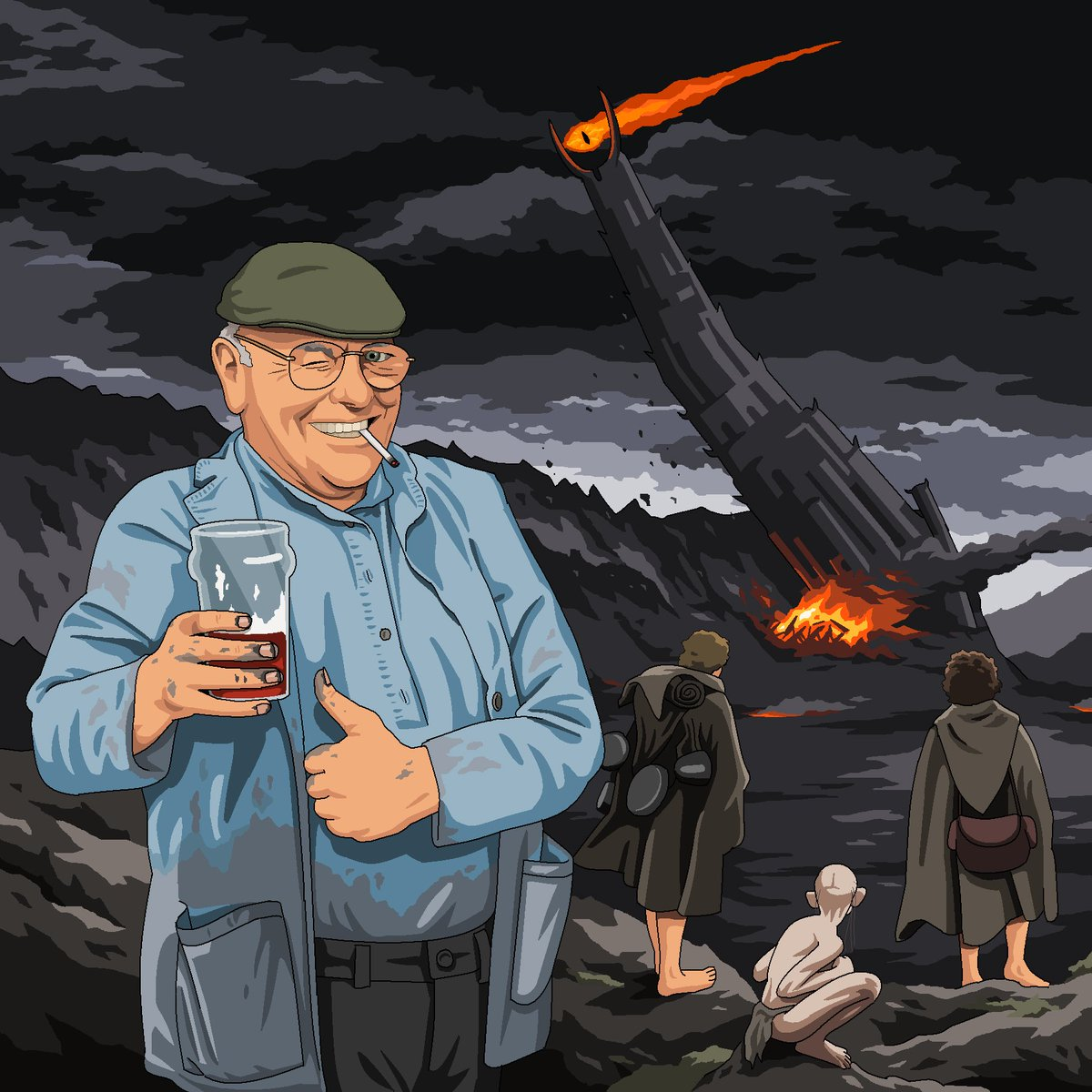 Fred Dibnah Lord Of The Rings