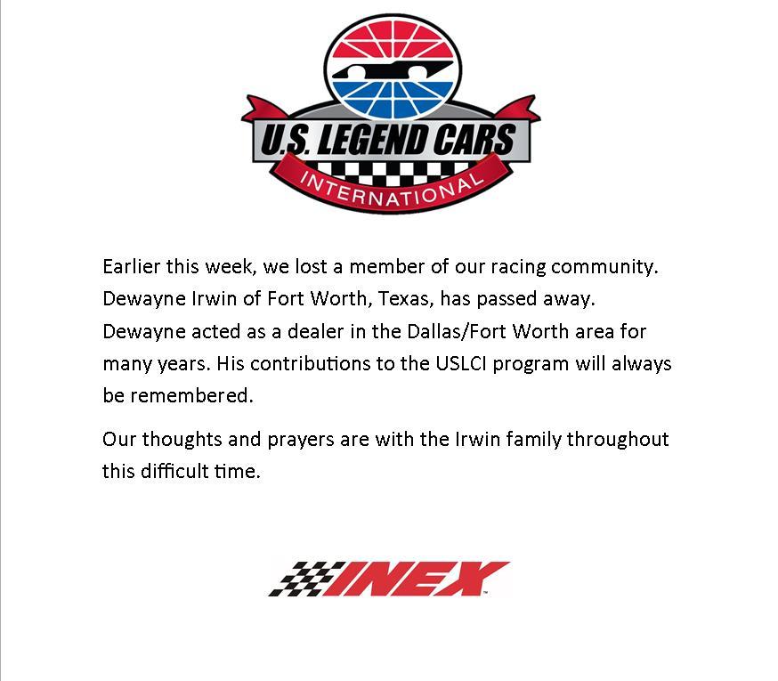 "US Legend Cars/INEX On Twitter: ""Please Keep The Irwin"