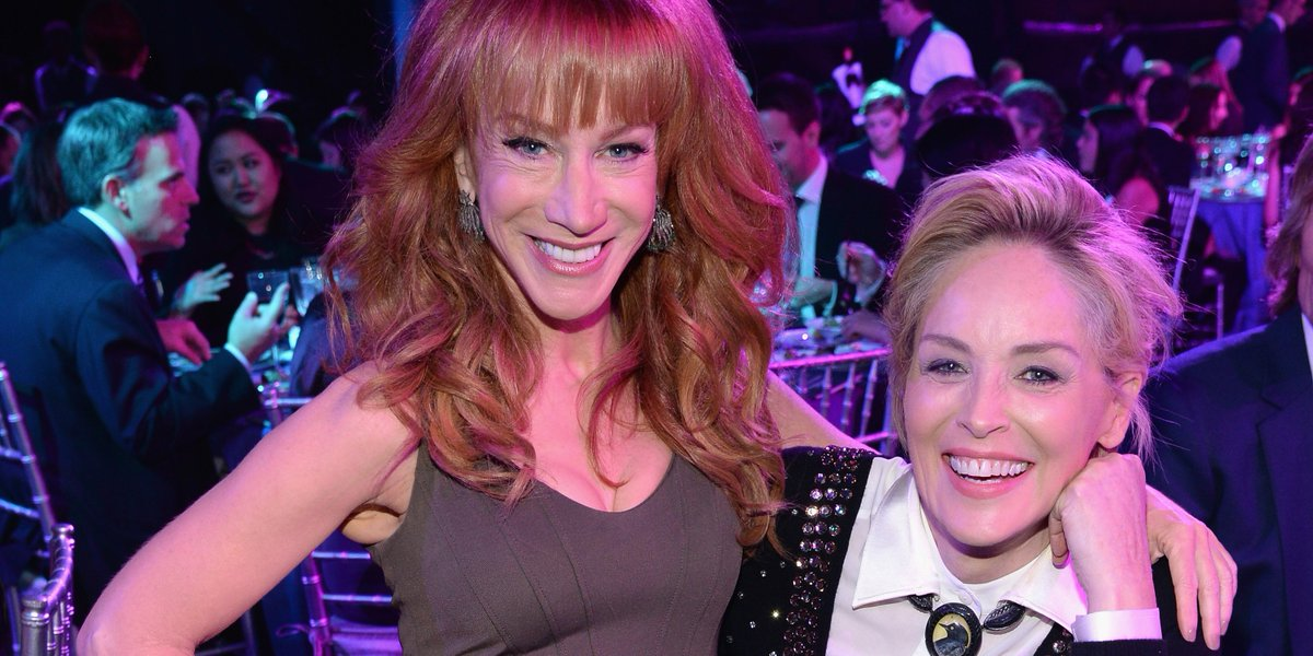 VIDEO: @kathygriffin says she and @sharonstone got T-O-P-L-E-S-S on #ElectionNight - https://t.co/QyAqDSBTsa