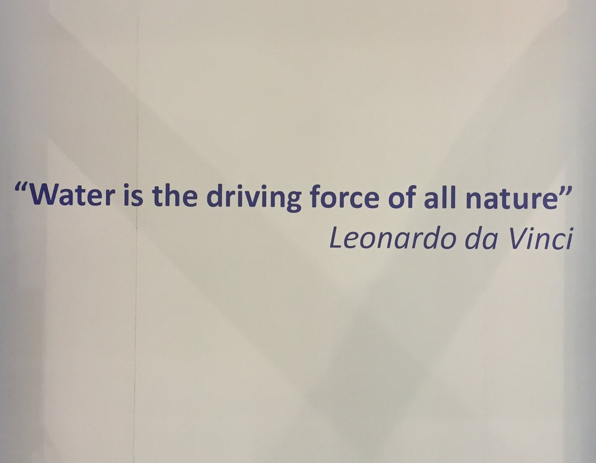 """iwater on """"water is the driving force of all nature"""