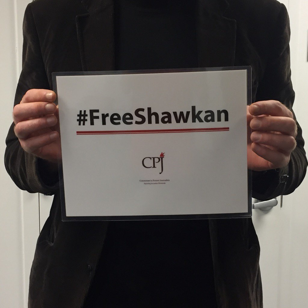 Three years in prison for photojournalism. #FreeShawkan https://t.co/8XvUBYJFw9
