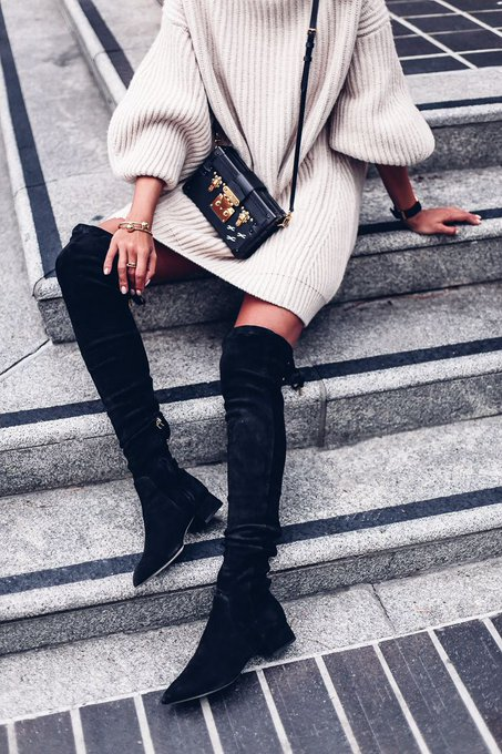 SAN DIEGO SWEATER DRESSING via VivaLuxury vivaluxury ootd