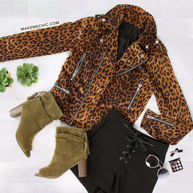 Channel your fierce side Shop Jackets: MakeMeChic OOTD leopard Jackets