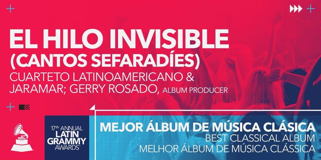 ¡Felicidades a Gerry Rosado, fundador de #DiscosIntolerancia, por su Grammy Latino como productor! https://t.co/R65QkAZaNP