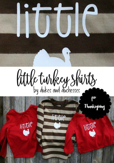 Make DIY turkey shirts for your little turkeys!